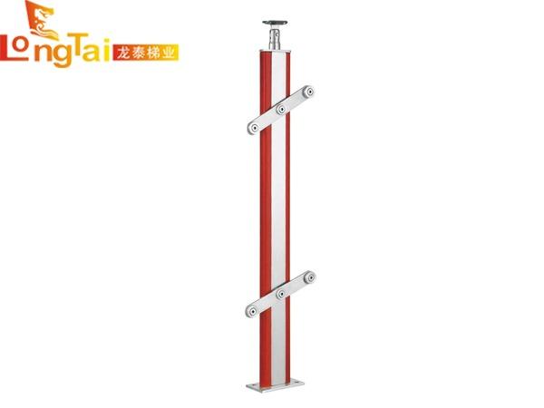 不锈钢夹木立柱护栏